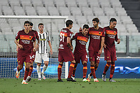 Diego Perotti of Roma celebrates after scoring  the 2-1 goal during the Serie A football match between Juventus FC and AS Roma at Juventus stadium in Turin (Italy), August 1st, 2020. Play resumes behind closed doors following the outbreak of the coronavirus disease. Photo Andrea Staccioli / Insidefoto