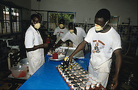 Workers in Yogurt plant