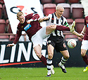 HEARTS' ANDY DRIVER GOES IN HIGH ON ST MIRREN'S JIM GOODWIN