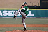 CARY, NC - FEBRUARY 23: McCae Allen #48 of Wagner College pitches the ball during a game between Wagner and Penn State at Coleman Field at USA Baseball National Training Complex on February 23, 2020 in Cary, North Carolina.