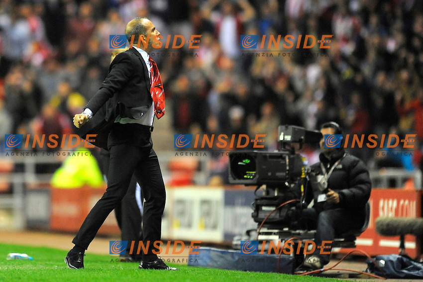 Sunderland manager Paolo Di Canio celebrates their first goal and equaliser - Barclays Premier League - Sunderland vs Stoke City  - Stadium of Light - Sunderland - 06/05/13 - Picture Richard Lee/Sportimage .Football Calcio 2012/2013.Premier League.Foto Insidefoto .ITALY ONLY