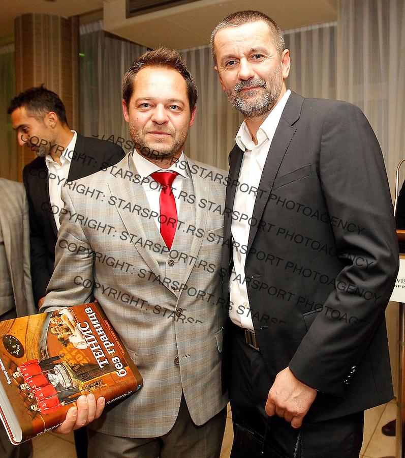 Davis Cup 2014 first round<br /> Srbija v Hrvatska<br /> Official Dinner<br /> Zeljko Krajan (L) and Bogdan Obradovic<br /> Novi Sad, 04.03.2015.<br /> Foto: Srdjan Stevanovic/Starsportphoto.com&copy;