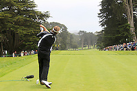 Spencer Levin (USA) tees off the 9th tee during Wednesday's Practice Day of the 112th US Open Championship at The Olympic Club, San Francisco,  California, 13th June 2012 (Photo Eoin Clarke/www.golffile.ie)