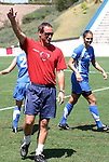 23 August 2003: Freedom head coach Jim Gabarra and backup goalkeeper Nicci Wright. The Washington Freedom practiced at Torero Stadium in San Diego, CA the day before playing the WUSA's Founders Cup III championship game.