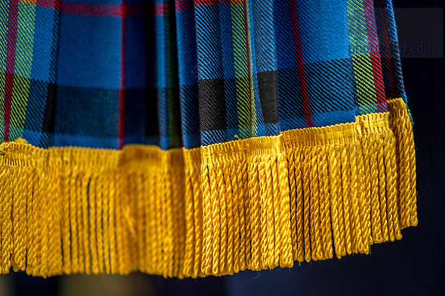 October 29, 2016; Plaid worn by the Notre Dame Marching Band (Photo by Matt Cashore)