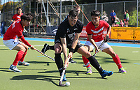 Simon Child in action during Olympic Qualifier Hockey match between the Blacksticks Men and Korea at TET Multisport Centre in Stratford, New Zealand on Saturday, 2 November 2019. Photo: Simon Watts / www.bwmedia.co.nz