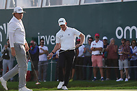Sami Valimaki (FIN) and Brandon Stone (RSA) on the 2nd Play Off hole during Round 4 of the Oman Open 2020 at the Al Mouj Golf Club, Muscat, Oman . 01/03/2020<br /> Picture: Golffile | Thos Caffrey<br /> <br /> <br /> All photo usage must carry mandatory copyright credit (© Golffile | Thos Caffrey)