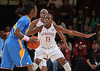 STANFORD, CA - February 12, 2011: Stanford Cardinal's Chiney Ogwumike during Stanford's 82-59 victory over UCLA at Maples Pavilion.