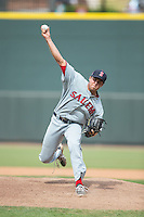 Salem Red Sox relief pitcher Taylor Grover (30) in action against the Winston-Salem Dash at BB&T Ballpark on May 31, 2015 in Winston-Salem, North Carolina.  The Red Sox defeated the Dash 6-5.  (Brian Westerholt/Four Seam Images)