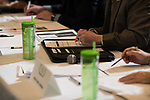 Judges taking notes and scoring points at the 3rd Annual Robert L. Foehl Ethical Leadership Case Competiton.
