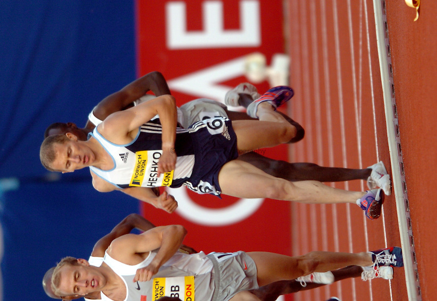 Photo. Henry Browne..Norwich Union London Grand Prix Athletics at Crystal Palace. 30/07/2004..Emsley Carr Mile..Ivan Hesko.