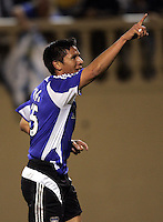 10 September 2005: Brian Ching of the Earthquakes celebrates after scoring a goal during the second half of the game against CD Chivas USA at Spartan Stadium in San Jose, California.    San Jose Earthquakes defeated CD Chivas USA, 3-0.