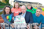 Launching the An Riocht AC/Lee Strand Kingdom Come 10 Miler' whcich will held in Castleisland on the 29th April at 11am at the Riocht track on Wednesday was l-r: John Linehan, Sarah Hobson, Jerry Dwyer Lee Strand, Kate Keeney and Denis McSweeney ..............