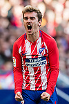 Antoine Griezmann of Atletico de Madrid reacts during the La Liga 2017-18 match between Atletico de Madrid and Athletic de Bilbao at Wanda Metropolitano  on February 18 2018 in Madrid, Spain. Photo by Diego Souto / Power Sport Images