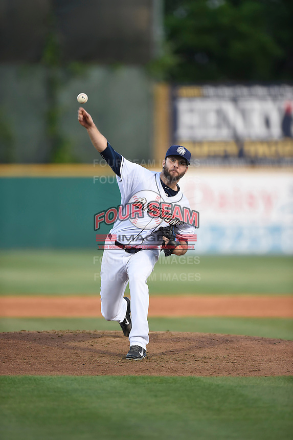 ***Temporary Unedited Reference File***San Antonio Missions starting pitcher Brandon Morrow (20) during a game against the Midland RockHounds on April 22, 2016 at Nelson W. Wolff Municipal Stadium in San Antonio, Texas.  San Antonio defeated Midland 8-4.  (Mike Janes/Four Seam Images)
