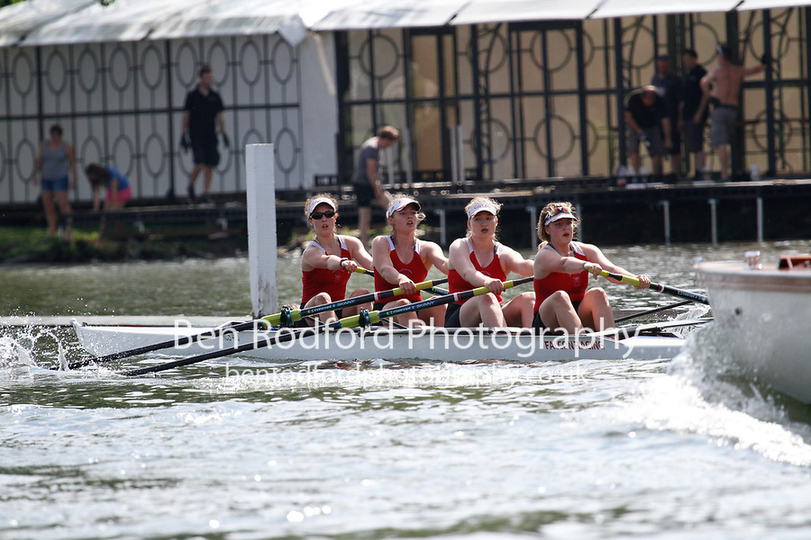 Race: 370 Event: J4+ Final - Henley RC  vs Godolphin Lat <br /> <br /> Henley Women's Regatta 2017<br /> <br /> To purchase this photo, or to see pricing information for Prints and Downloads, click the blue 'Add to Cart' button at the top-right of the page.