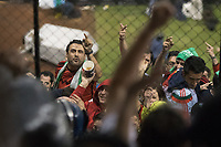 MEXICO CITY, MEXICO - June 11, 2017: Mexico fans heckle USA fans after the World Cup Qualifier match against Mexico at Azteca Stadium.