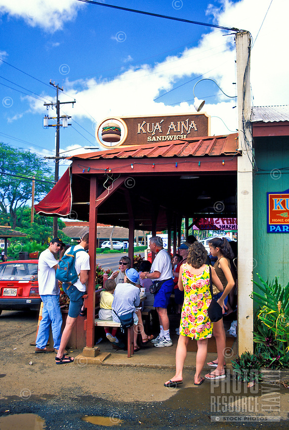 The Kau' Aina restaurant offers visitors a taste of local food favorites. Located in the heart of Historic Haleiwa town on the north shore of Oahu.