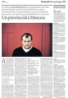 LE MONDE (main French daily newspaper)..2009/10/02.Portrait of the Russian director Alexeï Mizguiriev..Photo: Sergey Kozmin
