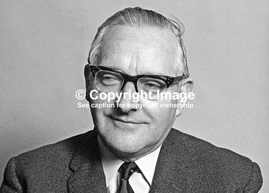 Mr J McA Taggart, medical officer of health, port medical officer, Belfast, N Ireland, 1st January, 1971. 197101010024a<br />
