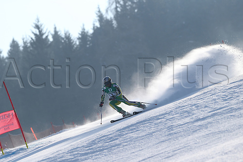 15.02.2013, Schladming, Austria. Tsotane Dywili in action during the qualification race of the Giant Slalom of  the FIS Alpine World Ski Championships 2013