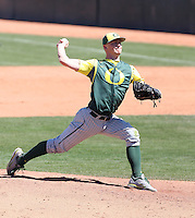 Kellen Moen #26 of the Oregon Ducks plays against the Arizona State Sun Devils on April 3, 2011 at Packard Stadium, Arizona State University, in Tempe, Arizona. .Photo by:  Bill Mitchell/Four Seam Images.