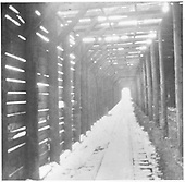 Interior of RGS Lizard Head wye snowshed showing the &quot;ventilated&quot; roof.<br /> RGS  Lizard Head, CO  Taken by Wolfinger, C. D.