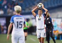 Seattle, WA - July 27, 2017: The USWNT lost to Australia 1-0 during the first match of the Tournament of Nations at CenturyLink Field.