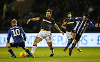 Bolton Wanderers' Yanic Wildschut competing with Sheffield Wednesday's Barry Bannan and Joey Pelupessy <br /> <br /> Photographer Andrew Kearns/CameraSport<br /> <br /> The EFL Sky Bet Championship - Sheffield Wednesday v Bolton Wanderers - Tuesday 27th November 2018 - Hillsborough - Sheffield<br /> <br /> World Copyright © 2018 CameraSport. All rights reserved. 43 Linden Ave. Countesthorpe. Leicester. England. LE8 5PG - Tel: +44 (0) 116 277 4147 - admin@camerasport.com - www.camerasport.com