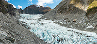 Lower parts of Fox Glacier, Westland Tai Poutini National Park, West Coast, South Westland, UNESCO World Heritage Area, New Zealand, NZ