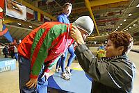 SCHAATSEN: HEERENVEEN: IJsstadion Thialf, 13-03-2004, VikingRace, Vitali Mikhailov (BLR), Geertje, ©foto Martin de Jong