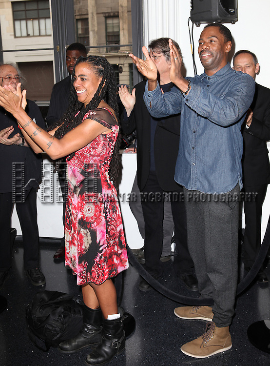 Suzan-Lori Parks and Coleman Domingo attending the Unveiling of the Revitalized Public Theater at Astor Place in New York City on 10/4/2012.