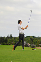 Richard Gaule (Waterford) on the 6th tee during the AIG Jimmy Bruen Shield Final between Lisselan &amp; Waterford in the AIG Cups &amp; Shields at Carton House on Saturday 20th September 2014.<br /> Picture:  Thos Caffrey / www.golffile.ie