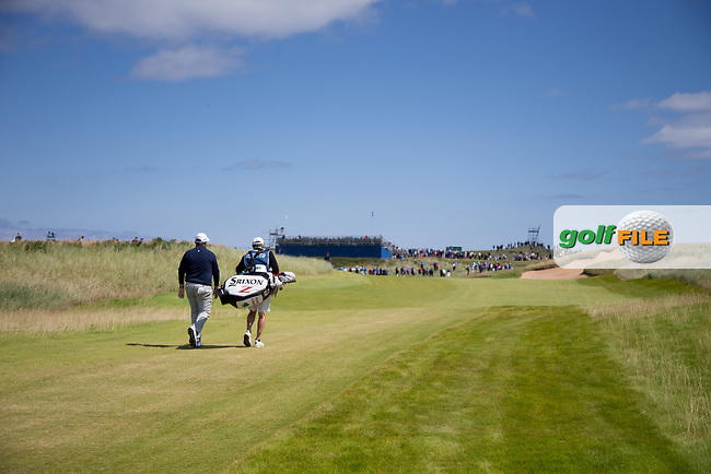 Shane Lowry (IRL) on the 14th during the 3rd round at the Dubai Duty Free Irish Open hosted by the Rory Foundation, at Portstewart Golf Club, Portstewart, Co. Derry, Northern Ireland. 08/07/2017<br /> Picture: Golffile | Fran Caffrey<br /> <br /> <br /> All photo usage must carry mandatory copyright credit (&copy; Golffile | Fran Caffrey)