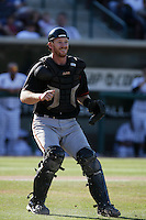 Doug Hogan of the Bakersfield Blaze during game against the Lake Elsinore Storm at The Diamond in Lake Elsinore,California on July 25, 2010. Photo by Larry Goren/Four Seam Images
