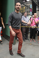 NEW YORK CITY, NY - AUGUST 1, 2012: Shia LaBeouf at ABC studios for an appearance on ABC's Good Moring America. &copy; RW/MediaPunch Inc. /NortePhoto.com<br />