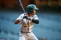 Oakland Athletics Jeramiah McCray (4) during an Instructional League game against the Arizona Diamondbacks on October 15, 2016 at Chase Field in Phoenix, Arizona.  (Mike Janes/Four Seam Images)