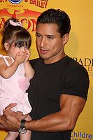 Mario Lopez with daughter Gia Francesca Lopez at the opening night of Ringling Bros. &amp; Barnum &amp; Bailey's 'Dragons' held at Staples Center on July 12, 2012 in Los Angeles, California. &copy;&nbsp;mpi27/MediaPunch Inc /*NORTEPHOTO*<br />