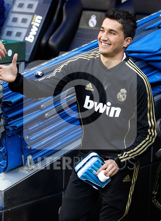 Real Madrid's Nuri Sahin before La Liga Match. November 06, 2011. (ALTERPHOTOS/Alvaro Hernandez)