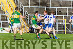 Kerrys David Moran drives the ball into the back of the Monaghan net for Kerrys goal in Fitzgerald Stadium on Sunday