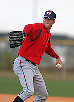 Washington Nationals minor leaguer Mike Hinckley during Spring Training at the Carl Barger Training Complex on March 19, 2007 in Melbourne, Florida.  (Mike Janes/Four Seam Images)