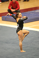 8 April 2006: Stanford's Kelly Fee during the NCAA West Regional women's gymnastics championships at Maples Pavilion in Stanford, CA.