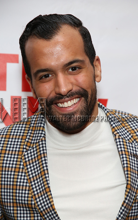 """Brandon Contreras attends the Off-Broadway Opening Night Premiere of  """"Jerry Springer-The Opera"""" on February 22, 2018 at the Green Fig Urban Eatery in New York City."""