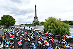 The peloton enter Paris during Stage 21 of the 104th edition of the Tour de France 2017, an individual time trial running 1.3km from Montgeron to Paris Champs-Elysees, France. 23rd July 2017.<br /> Picture: ASO/Alex Broadway | Cyclefile<br /> <br /> <br /> All photos usage must carry mandatory copyright credit (&copy; Cyclefile | ASO/Alex Broadway)
