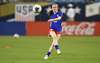 CHARLOTTE, NC - OCTOBER 03: Rose Lavelle #16 of the United States warms up prior to their game versus Korea Republic at Bank of American Stadium, on October 03, 2019 in Charlotte, NC.