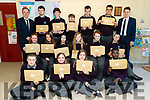 Coláiste Gleann Lí, Tralee, students pictured after receiving their Junior Certificate results on Wednesday morning last.
