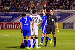 Referee Mohanad Qasim Eesee Sarray shows Rhayner of  Kawasaki Frontale (JPN) a red card during the AFC Champions League 2017 Group G match between Eastern SC (HKG) and Kawasaki Frontale (JPN) at the Mongkok Stadium on 01 March 2017 in Hong Kong, China. Photo by Chris Wong / Power Sport Images