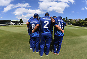 6th December 2017, Eden Park, Auckland, New Zealand; Ford Trophy One Day Cricket, Auckland Aces versus Canterbury Wizards;  Auckland team huddle before the start of the match