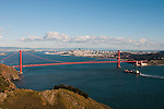 Marin Headlands; sightseeing; Golden Gate Bridge, San Francisco, California, USA.  Photo copyright Lee Foster.  Photo # california108852