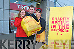 CLEARIN THE CLUTTER: Donating your old clothing to TK Maxx could mean plenty of funding for Enable Ireland. From l-r were: Sharon Fealy (Customer Services Supervisor), Sean Scally (Enable Ireland) and Amanda Carmody.   Copyright Kerry's Eye 2008